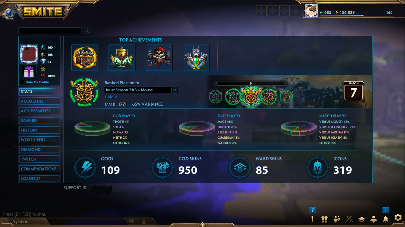 Sold Lvl 160 High End Account Thor Bellona Anubis T5 950 Skins Epicnpc Marketplace