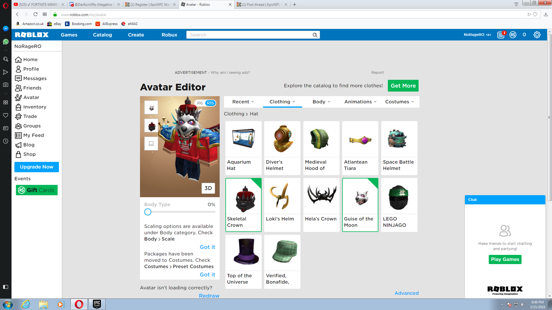 Selling Roblox Account With Event Items Epicnpc Marketplace