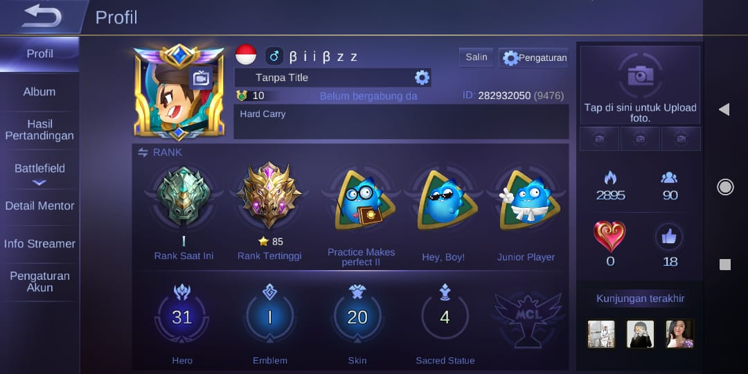 Sold Wts Mobile Legend Account Good Win Rate Mythic 85 Highest Epicnpc Marketplace