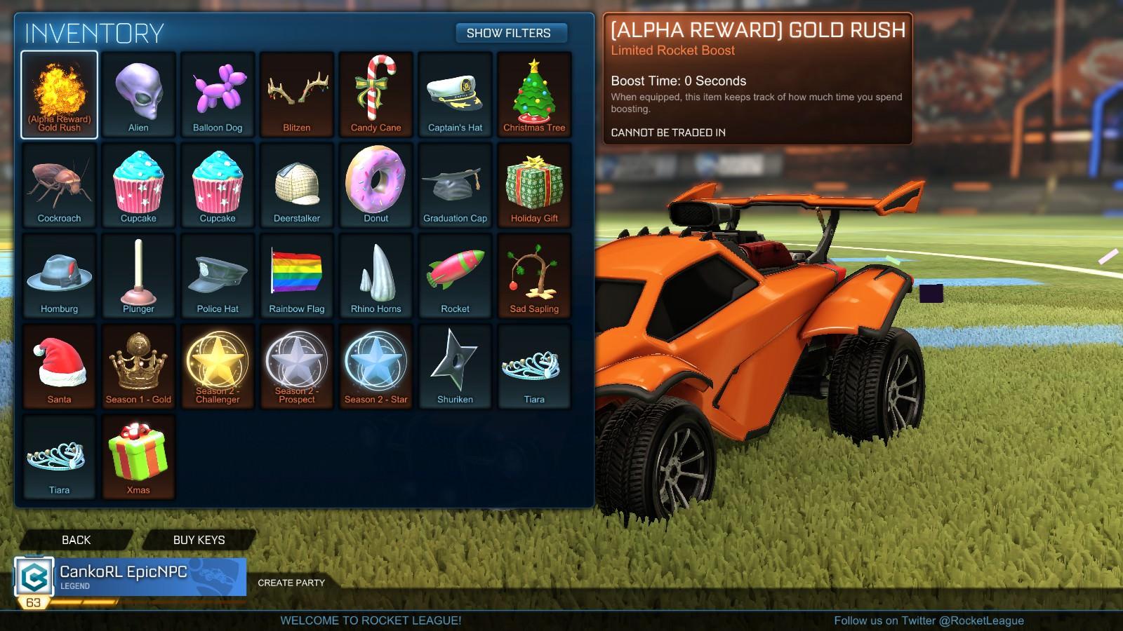 Selling Alpha Boost Gold Rush Rocket League Account Epicnpc Marketplace